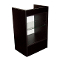 Knocked Down Glass Front Cash Register Stand - Black