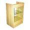 Knocked Down Glass Front Cash Register Stand - Maple