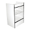 Knocked Down Glass Front Cash Register Stand - White-Black