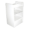 Knocked Down Glass Front Cash Register Stand - White -White