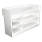 "72"" Knocked Down Ledgetop Counter - White-White"