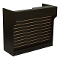 "48"" Knocked Down Slatwall Front Ledgetop Counter - Black"