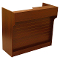 "72"" Knocked Down Slatwall Front Ledgetop Counter - Cherry"