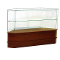 Knocked Down Half Vision Frameless Corner Showcase - Cherry