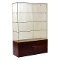 "72""H Knocked Down Half View Frameless Wallcase - Cherry"
