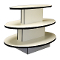 3 Tier Oval Display Table - White-Black