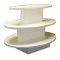 3 Tier Oval Display Table - White-White