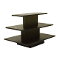 3 Tier Rectangular Display Table - Black