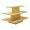 3 Tier Rectangular Display Table - Maple