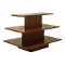 3 Tier Rectangular Display Table - Walnut