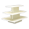 3 Tier Rectangular Display Table - White-White