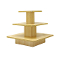 3 Tier Square Display Table - Maple