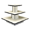3 Tier Square Display Table - White-Black