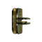 3 Way Adjustable Glass Clip - Brass