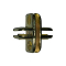4 Way Adjustable Glass Clip - Brass