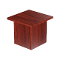 "16""L Square Glass Display Base - Cherry"