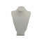 "7 1/2""H Necklace Bust - White Leatherette"