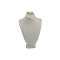 "7 1/2""H Combo Necklace Bust - White Leatherette"