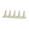 5 Finger Ring Display - White Leatherette