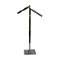 2 Way Rect. Upright Clothing Rack With Waterfall Arms - Chrome