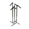 4 Way Clothing Rack With Rectangular Waterfall Arms - Chrome