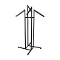 4 Way Clothing Rack With Rectangular Waterfall Arms - Black