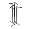 4 Way Clothing Rack With Combination Rectangular Arms - Chrome