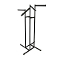 4 Way Clothing Rack With Combination Rectangular Arms - Black
