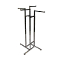 "4 Way Clothing Rack With 16"" Square Arms - Chrome"
