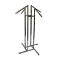 4 Way Clothing Rack With Square Waterfall Arms - Chrome