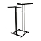 "High Capacity 4 Way Clothing Rack With 22"" Arms - Black"