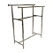 Double Bar Clothing Rack - Chrome