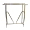 Double Bar Clothing Rack With V Brace - Chrome