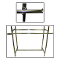 Add On Rails For Double Bar Clothing Rack - Chrome