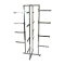 "Lingerie Clothing Rack With 12"" Rectangular Arms - Chrome"