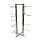 "Lingerie Clothing Rack With 12"" Round Straight Arms - Chrome"