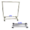 Collapsible Salesman Clothing Rack - Chrome