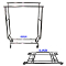 Double Bar Collapsible Salesman Clothing Rack - Chrome