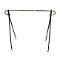 "48""H Single Bar Clothing Rack - Black"