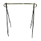 "63""H Single Bar Clothing Rack - Black"