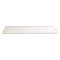 "48"" X 13"" Plastic Bullnose Shelf - White"