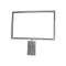 "7""H X 11""W Grid Top Mount Sign Holder - Chrome"