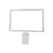 "7""H X 11""W Grid Top Mount Sign Holder - White"