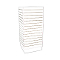 Cubic Slatwall Floor Display Tower - White