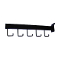 5 Hook Rectangular Tube Slat Faceout - Black