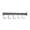 5 Hook Rectangular Tube Slat Faceout - Chrome