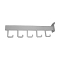 5 Hook Rectangular Tube Slat Faceout - White