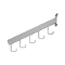5 Hook Rectangular Tube Grid Waterfall - White