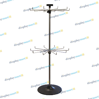 2 Tier Countertop Spinner Display - Chrome