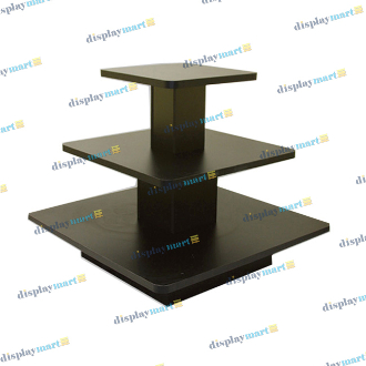 3 Tier Square Display Table - Black